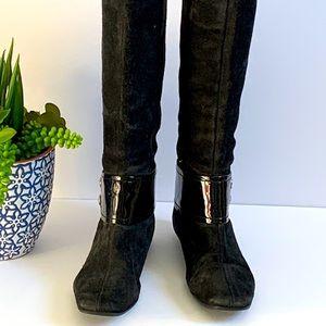 Michael Kors tall black boots size 7 1/2 US